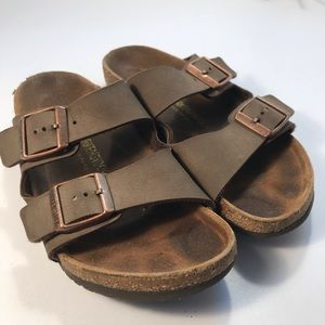 Birkenstock Brown Slip On Sandals